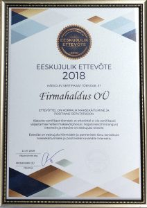 Certified accounting service provider in Estonia.